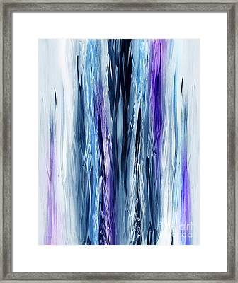 Abstract Waterfall Purple Flow Framed Print by Irina Sztukowski