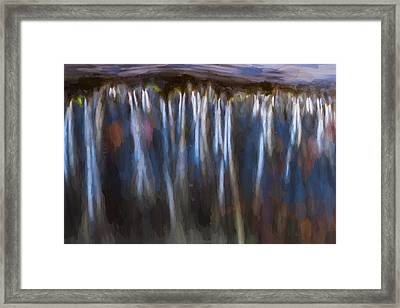 Abstract Waterfalls Childs National Park Painted  Framed Print by Rich Franco
