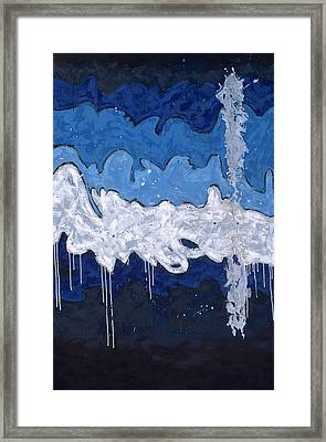 Abstract Wave Framed Print by Konni Jensen