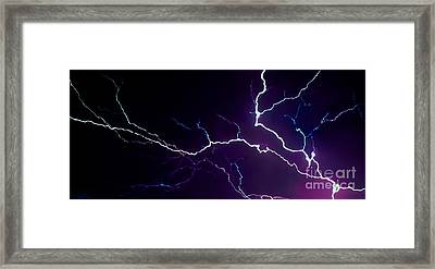 Abstract Wicked Lightning 14 Framed Print by Jesse  Post