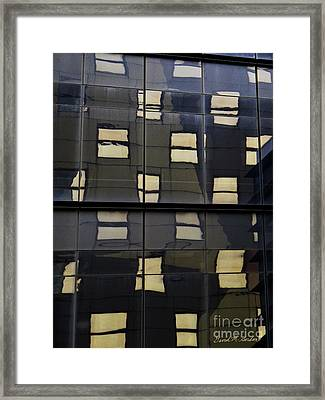 Abstract Window Reflections - Nyc Framed Print by David Gordon