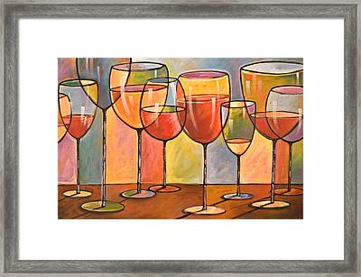 Abstract Wine Art ... Whites And Reds Framed Print by Amy Giacomelli