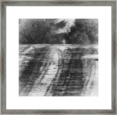 Abstract Winter Storm Framed Print by Thomas Young