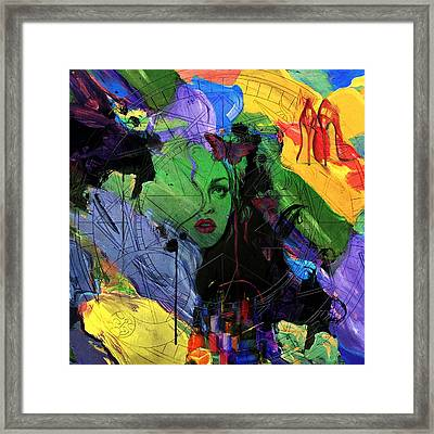 Abstract Women 014 Framed Print by Corporate Art Task Force