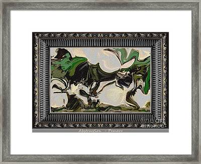 Abstraction Ab2 Framed Print by Pemaro