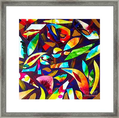 Abstraction And Colorful Thoughts Framed Print by Roberto Gagliardi