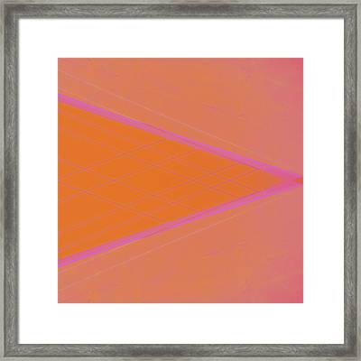 Abstraction In Pink Number 3 Framed Print by Carol Leigh