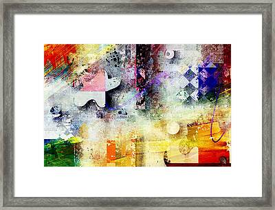 Abstracture - 052061049at1-sp1tb2 Framed Print by Variance Collections