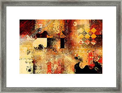 Abstracture - 103106046f Framed Print by Variance Collections