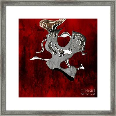 Abstrait En Si Mineur - S02t02 Framed Print by Variance Collections