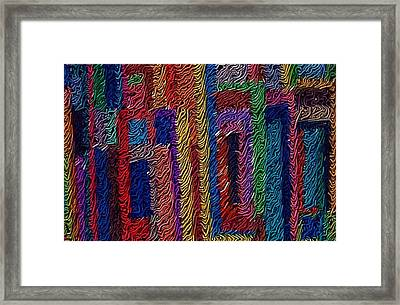 Abvstract Sevens Framed Print by M and L Creations Craft Boutique