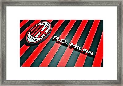 Ac Milan Poster Art Framed Print by Florian Rodarte