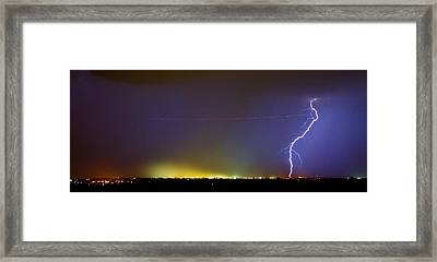 Ac Strike Over The City Lights Panorama Framed Print by James BO  Insogna