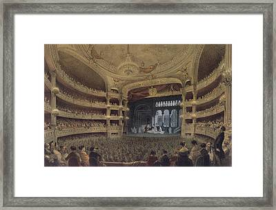 Academie Imperiale De Musique Paris Framed Print by Louis Jules Arnout