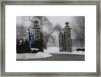 Academy Of Notre Dame - School For Girls Framed Print by Bill Cannon