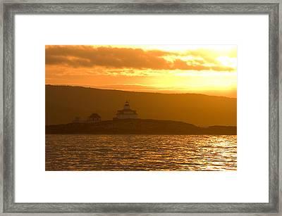 Acadia Lighthouse  Framed Print by Sebastian Musial