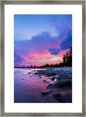 Acadia National Park Sunset Framed Print by Mircea Costina Photography