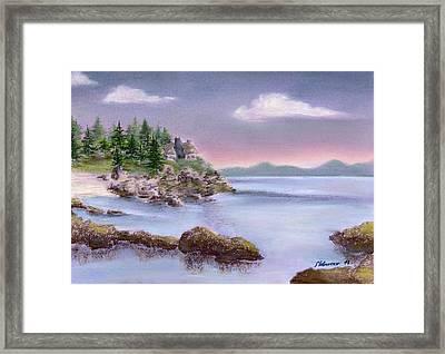 Acadia Sunrise Schooner Head Framed Print by Stephanie Woerner
