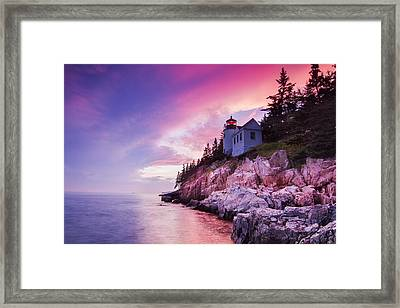 Acadia Sunset Framed Print by Mircea Costina Photography