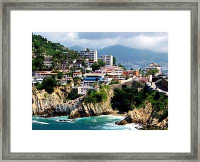Acapulco Framed Print by Karen Wiles
