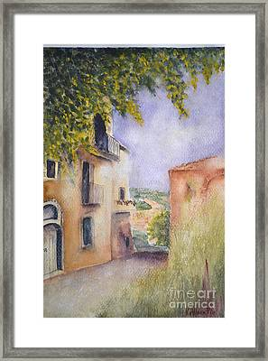 Accadia Framed Print by Kathleen Pio