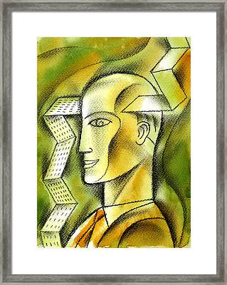 Accaunting  Framed Print by Leon Zernitsky