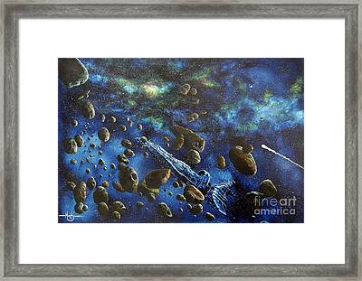 Accidental Asteroid Framed Print by Murphy Elliott