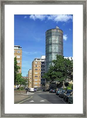 Accumulator Tower Framed Print by Martin Bond