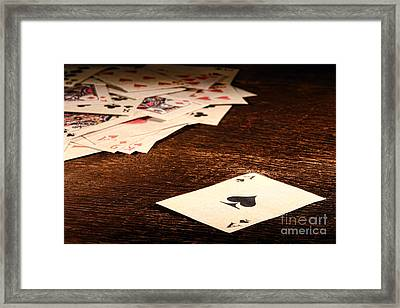 Ace Of Spade Framed Print by Olivier Le Queinec