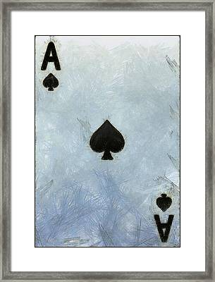 Ace Of Spades Framed Print by Dan Sproul