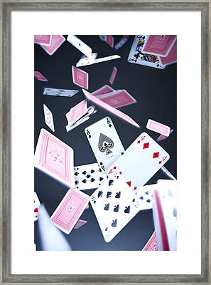 Ace Of Spades Framed Print by Samuel Whitton