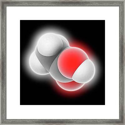 Acetic Acid Molecule Framed Print by Laguna Design