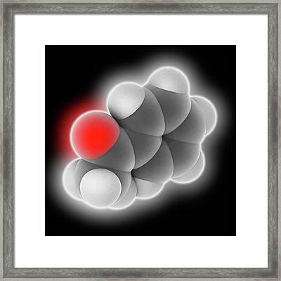 Acetophenone Molecule Framed Print by Laguna Design