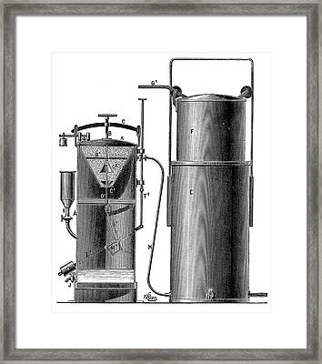Acetylene Production Framed Print by Science Photo Library