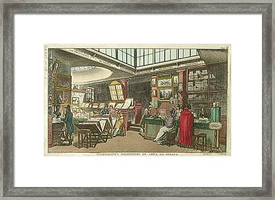 Ackermann's Repository Of Arts Framed Print by British Library
