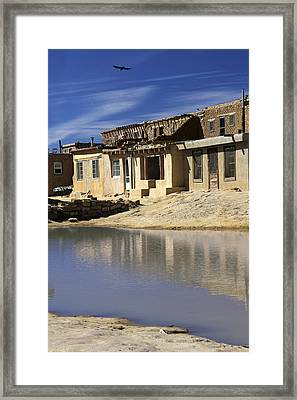 Acoma Pueblo Adobe Homes 2 Framed Print by Mike McGlothlen