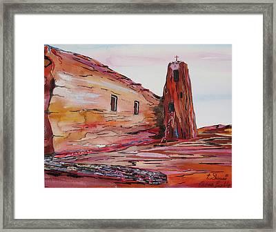 Acoma Pueblo Church Framed Print by Tom Shinas