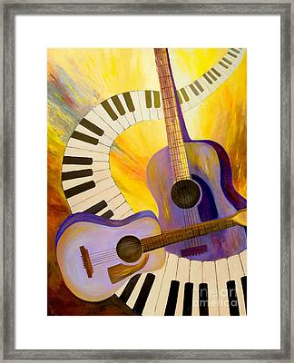 Acoustics In Space Framed Print by Larry Martin