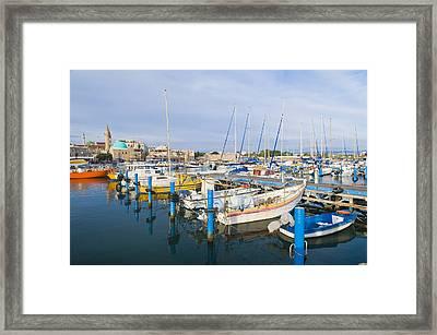 Acre Port Framed Print by Kobby Dagan