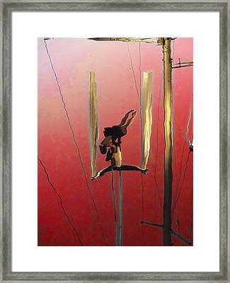 Acrobatic Aerial Artistry1 Framed Print by Anne Mott