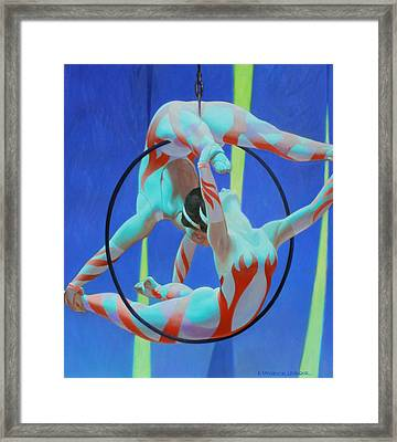 Acrobats Framed Print by Kevin Lawrence Leveque
