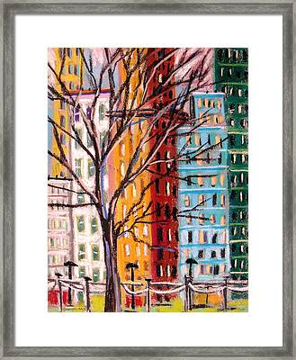 Across From The Park Framed Print by John  Williams
