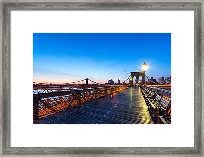 Across The Bridge Framed Print by Daniel Chen