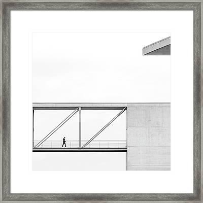 Across The Bridge Framed Print by Klaus Lenzen