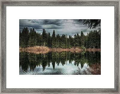 Across The Lake Framed Print by Belinda Greb