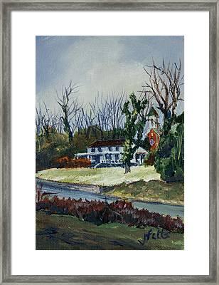 Across The Railroad Framed Print by Janet Felts