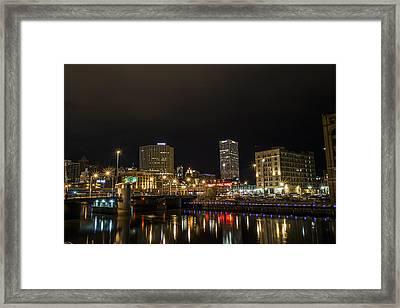 Across The River Framed Print by CJ Schmit