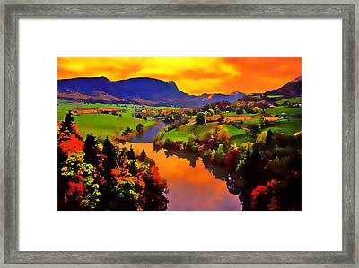 Across The Valley Framed Print by Stephen Anderson