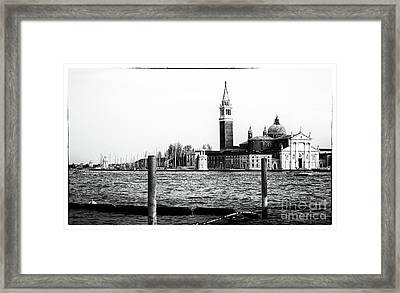 Across The Way In Venice Framed Print by John Rizzuto