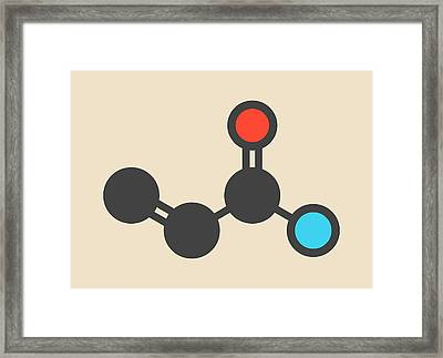 Acrylamide Molecule Framed Print by Molekuul